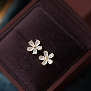 925 Silver Petals Flower Earrings