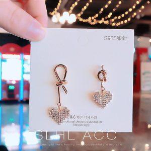 100% Silver Heart Earrings