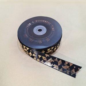 Puff Gold Print Ribbon