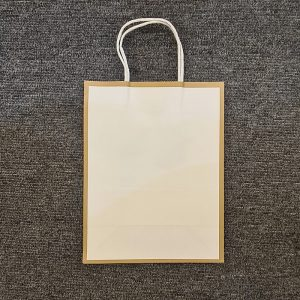 White Gold Edge Paper Bag 21 x 11