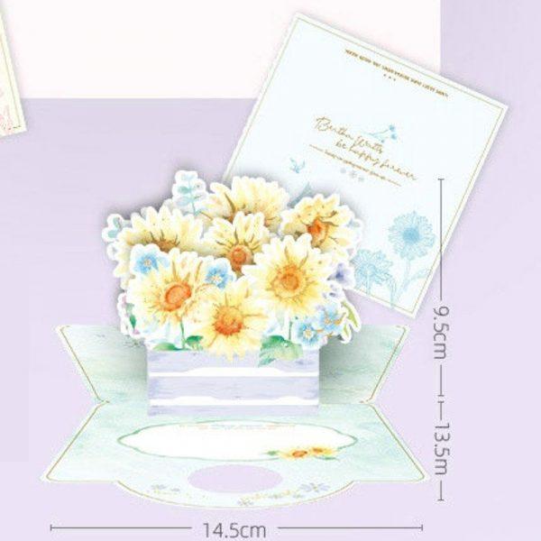 Sunflower 3D Greeting Card