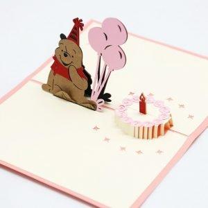 Winnie Pooh 3D Birthday Card