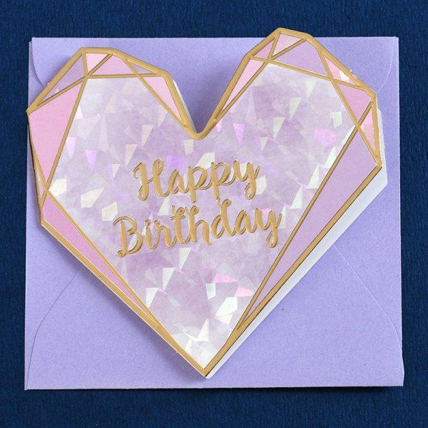 Heart Shaped Birthday Card